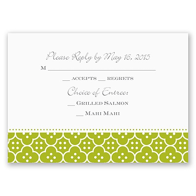 Fun Frame - Green - Response Card and Envelope