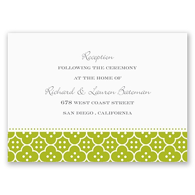 Fun Frame - Green - Reception Card
