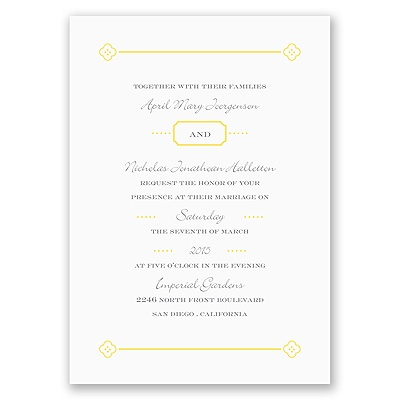 Fun Frame - Yellow - Invitation
