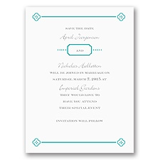 Fun Frame - Teal - Save the Date Card