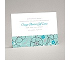 Tropical Flowers - Aqua - Reception Card