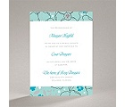 Tropical Flowers - Aqua - Bridal Shower Invitation