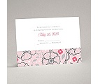 Tropical Flowers - Cotton Candy - Response Card and Envelope