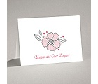 Tropical Flowers - Cotton Candy - Thank You Card and Envelope