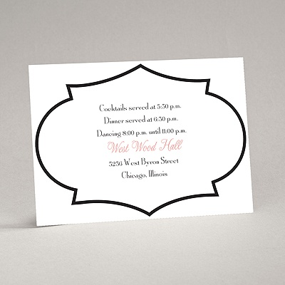 Geometric Glamour - Black Reception Card