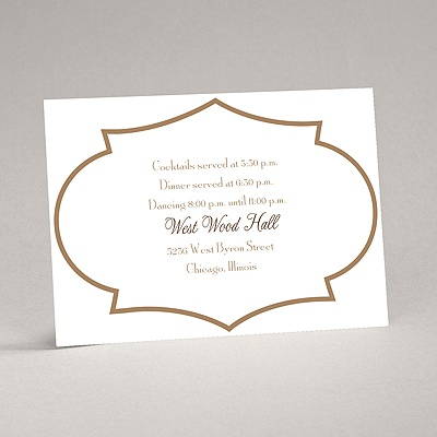 Geometric Glamour - Taupe Reception Card