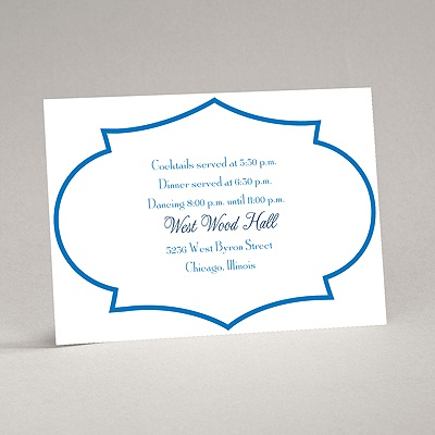 Geometric Glamour - Blue Reception Card