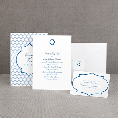 Geometric Glamour - Blue Invitation