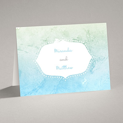 Watercolor Shading - Celestial Blue - Thank You Card and Envelope