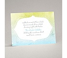 Watercolor Shading - Celestial Blue - Reception Card