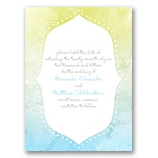 Watercolor Shading - Celestial Blue - Save the Date Card