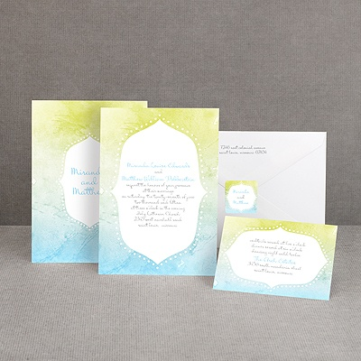 Watercolor Shading - Celestial Blue - Invitation