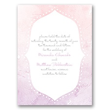 Watercolor Shading - Freesia - Save the Date Card