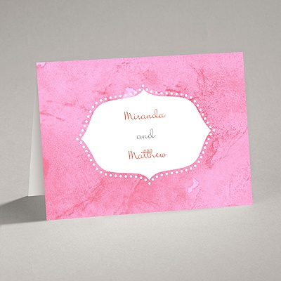 Watercolor Shading - Posie Pink - Thank You Card and Envelope