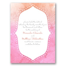 Watercolor Shading - Posie Pink - Save the Date Card