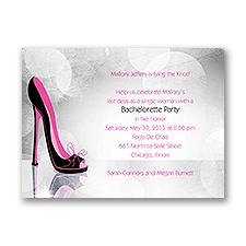 High Heel - Pink - Bachelorette Party Invitation
