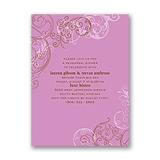Sassy Swirls - Purple - Rehearsal Dinner