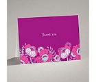 Modern Poppies - Amethyst - Thank You Card and Envelope
