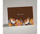 Modern Poppies - Espresso - Thank You Card and Envelope