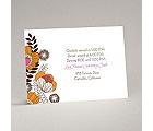 Modern Poppies - Espresso - Reception Card