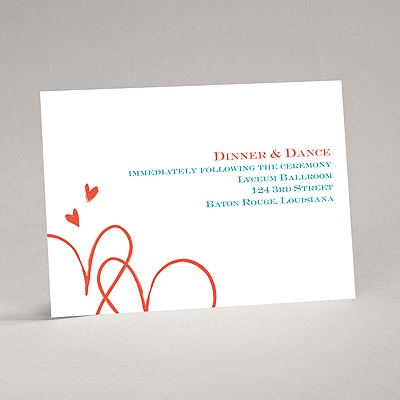 Loving Hearts - Reception Card