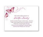 Delicate Butterfly - Fuchsia - Map Card