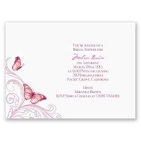 Delicate Butterfly - Fuchsia Bridal Shower Invitation