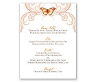 Delicate Butterfly - Poppy - Menu Card