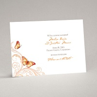Delicate Butterfly - Orange Save the Date Card