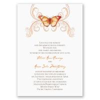 Delicate Butterfly - Orange Invitation