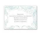 Calligraphy Motifs - Aqua - Reception Card