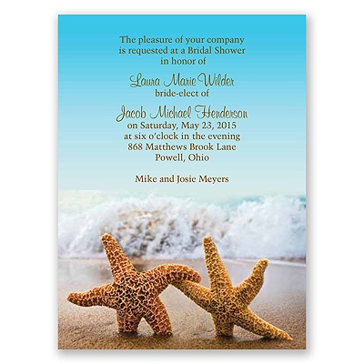 Starfish - Bridal Shower Invitation