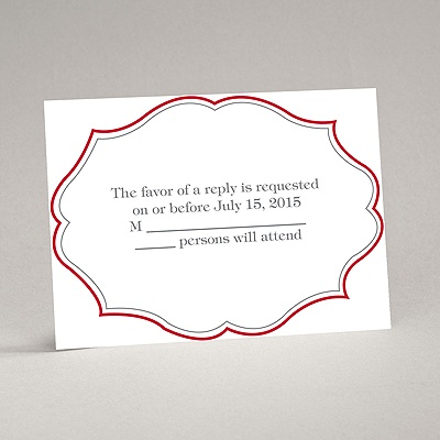 Classic Crest - Red - Response Card and Envelope