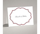Classic Crest - Red - Thank You Card and Envelope