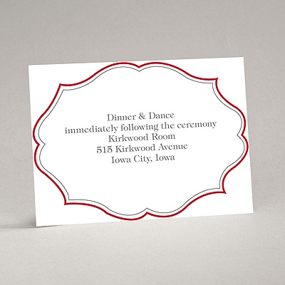 Classic Crest - Red - Reception Card