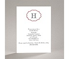 Classic Crest - Red - Bridal Shower Invitation