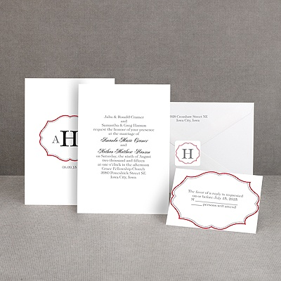 Classic Crest - Red - Invitation