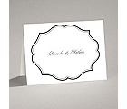 Classic Crest - Black - Thank You Card and Envelope