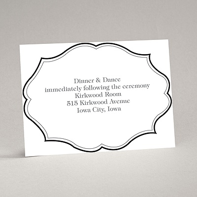 Classic Crest - Black - Reception Card