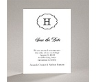 Classic Crest - Black - Save the Date Card