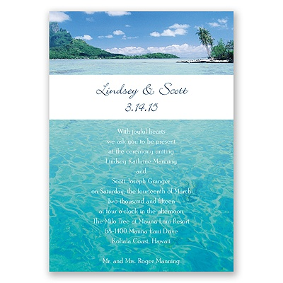 Sea of Love - Reception Card