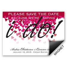 Heart Romance - Save the Date Magnet