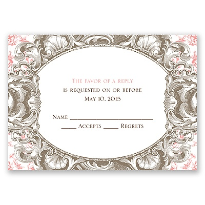 Fancy Frame - Response Card and Envelope