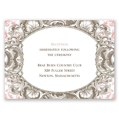 Fancy Frame - Reception Card
