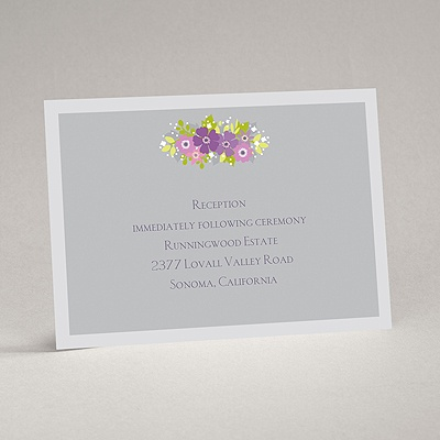 Vintage Wreath - Sterling - Reception Card