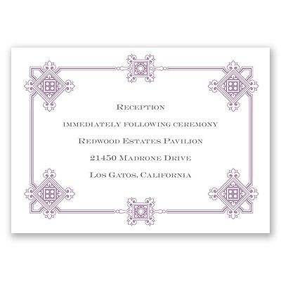 Deco Frame - Lavender - Reception Card