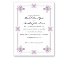 Deco Frame - Lavender - Save the Date Card