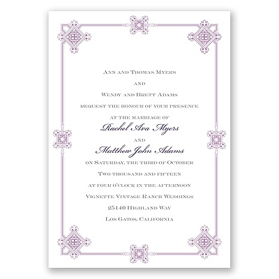 Deco Frame - Lavender - Invitation