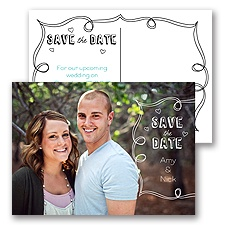 Chalkboard - Save the Date Postcard