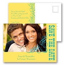 Bold Notice - Yellow - Save the Date Postcard